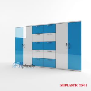 Mẫu tủ nhựa Trẻ Em 4 cánh, 10 ngăn SHplastic TN01