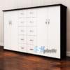 Tủ nhựa Trẻ Em 4 cánh 10 ngăn kéo Trắng Đen / SHplastic TN01