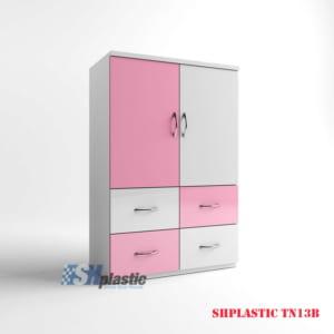 Mẫu tủ nhựa Trẻ Em 2 cánh 4 ngăn kéo / SHplastic TN13