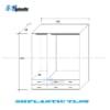 Tủ nhựa người lớn 3 cánh lửng kèm gương Vân Gỗ / SHplastic TL08