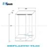 Chi tiết thiết kế tủ nhựa quần áo người lớn 3 cánh 1 ngăn kéo / SHplastic TL02
