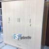 Mẫu tủ nhựa người lớn 4 cánh, 3 buồng, 2 ngăn / SHplastic TL11