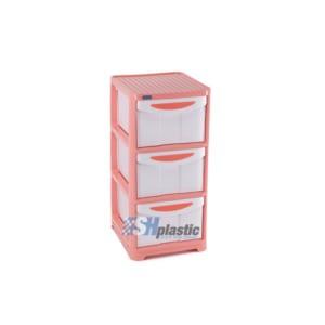 Mẫu tủ nhựa quần áo Duy Tân lớn 3 ngăn / No.662