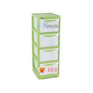 Mẫu tủ nhựa quần áo Duy Tân lớn 4 ngăn / No.662