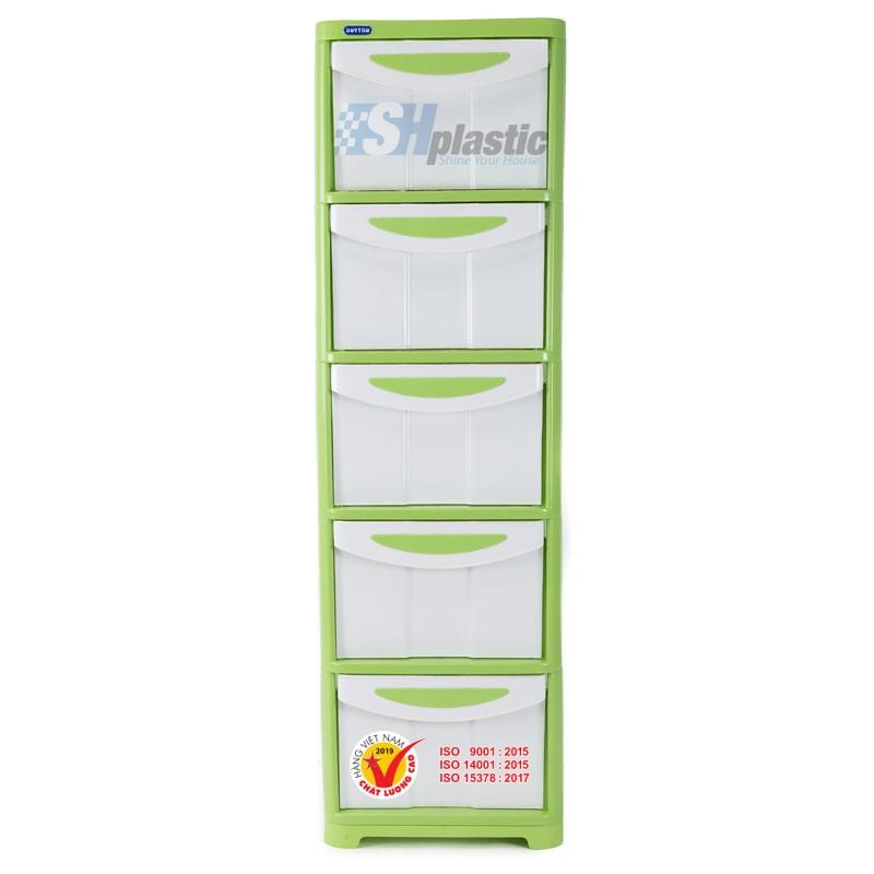 Mẫu tủ nhựa quần áo Duy Tân lớn 5 ngăn / No.662