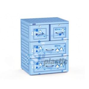 Mẫu tủ nhựa Duy Tân Tabi 3 tầng 4 ngăn cho Trẻ