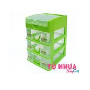 Tủ Nhựa Duy Tân Tomi nhỏ 4 tầng 4 ngăn / No.0190219