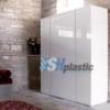 Mẫu tủ quần áo nhựa người lớn 4 cánh 2 buồng / SHplastic TL10