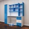 Mẫu bàn học nhựa kết hợp giá sách tủ kệ cao cấp SHplastic BH02