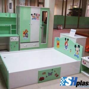 Bộ nội thất nhựa phòng ngủ người lớn / SHplastic NT01