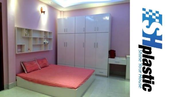 Bộ nội thất nhựa phòng ngủ Người lớn / SHplastic BNT06