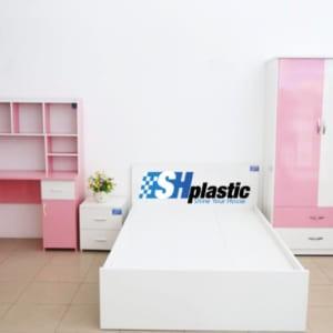 Bộ nội thất nhựa phòng ngủ người lớn SHplastic NT07