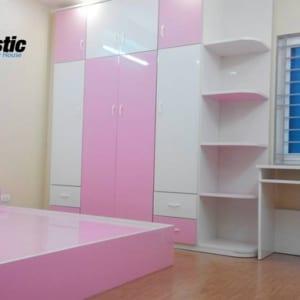 Bộ nội thất nhựa phòng ngủ người lớn / SHplastic NT08