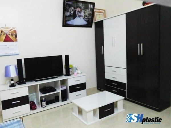 Bộ nội thất nhựa phòng ngủ người lớn / SHplastic BNT10