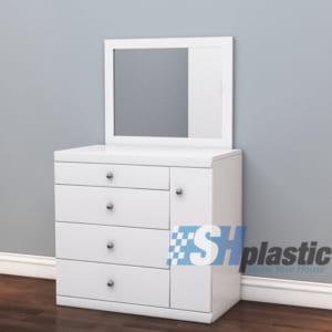 Mẫu bàn trang điểm nhựa Đài Loan / Recta SHPlastic TD07