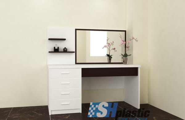 Mẫu bàn trang điểm bằng nhựa cao cấp / SHplastic TD01