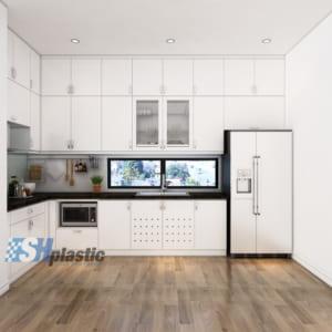 Mẫu tủ bếp nhựa cao cấp SHplastic TB02