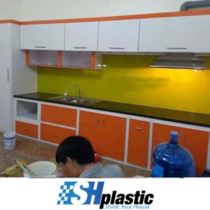 Tủ bếp nhựa Đài Loan cao cấp chữ I phối màu / SHPLastic TB07