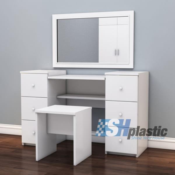 Mẫu bàn trang điểm bằng nhựa đài loan cao cấp SHplastic TD09