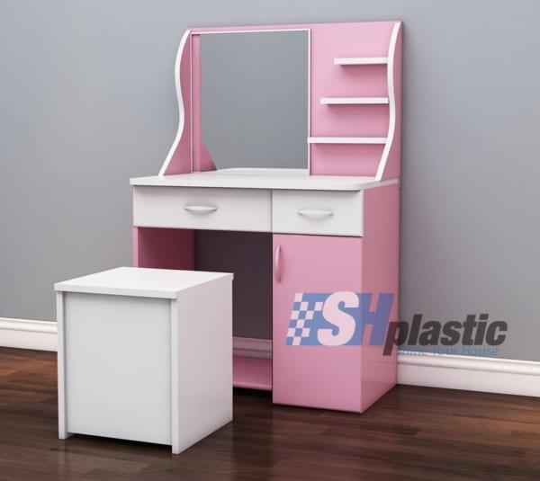Mẫu bàn trang điểm bằng nhựa đài loan cao cấp SHplastic TD10