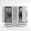 Tủ nhựa người lớn cao cấp 6 cánh, 6 kệ, 6 hộc, 6 ngăn kéo / SHplastic TL29