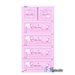 Mẫu Tủ Nhựa Duy Tân Tabi 5 tầng 6 ngăn - SHplastic H1595