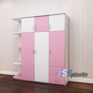 Tủ nhựa quần áo người lớn đa năng 3 cánh liền kệ SHplastic TL14