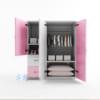 Mẫu tủ nhựa Trẻ Em 3 cánh 2 ngăn kéo / SHplastic TN04