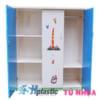 Mẫu tủ nhựa Trẻ Em 3 cánh 2 buồng / SHplastic TN03