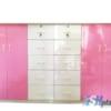 Mẫu tủ nhựa Trẻ Em 4 cánh, 10 ngăn, Trắng Đen / SHplastic TN01