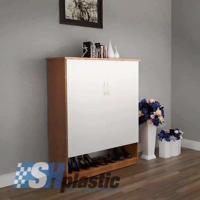Tủ giày nhựa cao cấp 2 cánh phối màu / SHplastic TG14