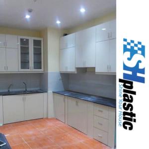 Tủ bếp nhựa Đài Loan thiết kế theo yêu cầu / SHPlastic TB14