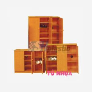 Mẫu tủ giày nhựa cao cấp 3 cánh nhiều ngăn / SHplastic TG09
