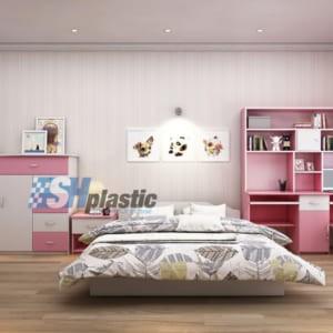 Bộ mẫu thiết kế nội thất nhựa phòng ngủ Trẻ Em / SHplastic NTN01