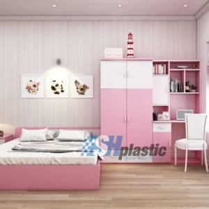 Bộ mẫu thiết kế nội thất nhựa phòng ngủ Trẻ Em / SHplastic NTN03