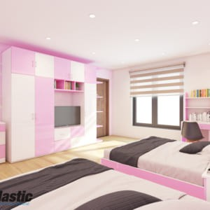 Bộ mẫu thiết kế nội thất nhựa phòng ngủ Người lớn / SHplastic NTL02