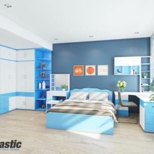 Bộ mẫu thiết kế nội thất nhựa phòng ngủ Người lớn / SHplastic NTL01