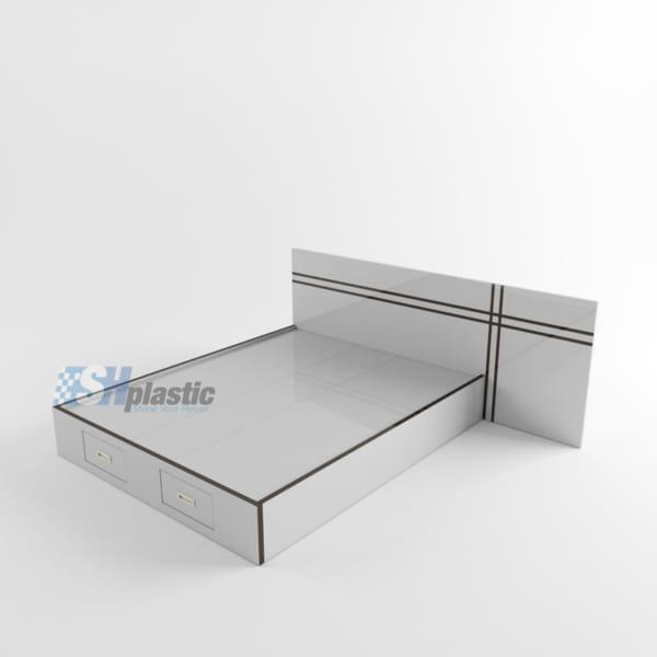 Giường ngủ đôi nhựa Đài Loan cao cấp / SHPlastic GN15