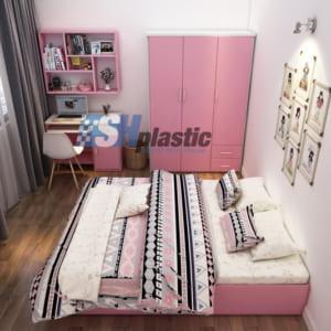 Bộ mẫu thiết kế nội thất nhựa phòng ngủ Người lớn / SHplastic NTL04
