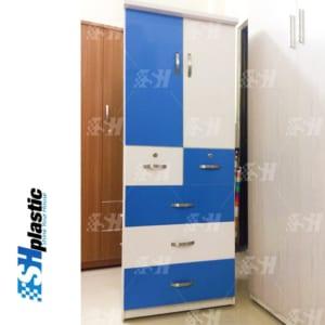 Mẫu tủ nhựa Trẻ Em 2 cánh 5 ngăn kéo / SHplastic TN22
