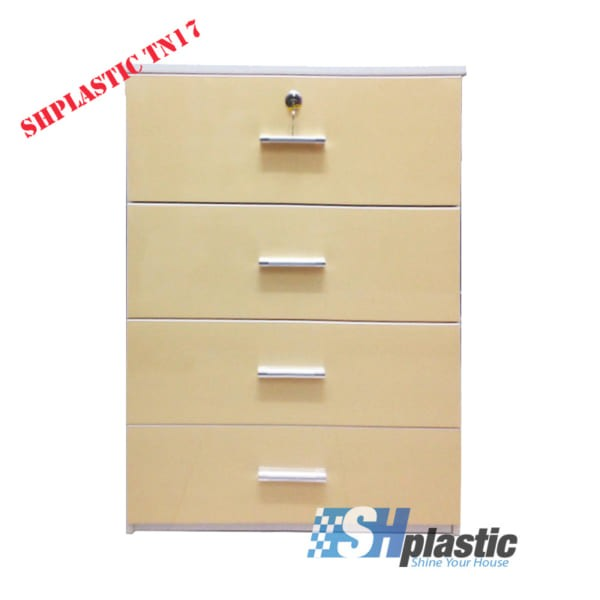Mẫu tủ nhựa Trẻ Em 4 tầng 4 ngăn kéo / SHplastic TN17