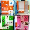 Mẫu tủ nhựa Trẻ Em 5 cánh 2 ngăn kéo / SHplastic TN28