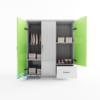 Mẫu tủ nhựa Trẻ Em 3 cánh 1 ngăn kéo / SHplastic TN29