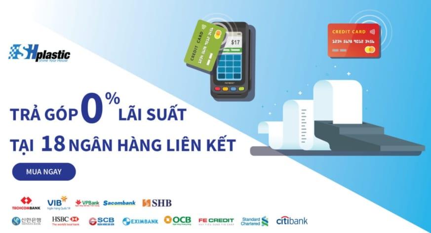 TRẢ GÓP 0% khi thanh toán bằng thẻ tín dụng tại TUNHUA.VN