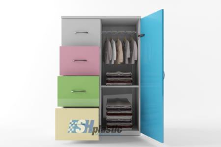 So sánh mẫu tủ nhựa Đài Loan 1 cánh 5 ngăn và 4 ngăn;
