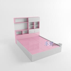 Giường ngủ nhựa Đài Loan kết hợp kệ trang trí / SHPlastic GN16