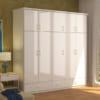 Mẫu tủ nhựa đài loan 5 cánh màu trắng giá rẻ