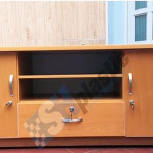 Mẫu tủ kệ tivi nhựa Đài Loan nâu gỗ / SHPlastic KTV03