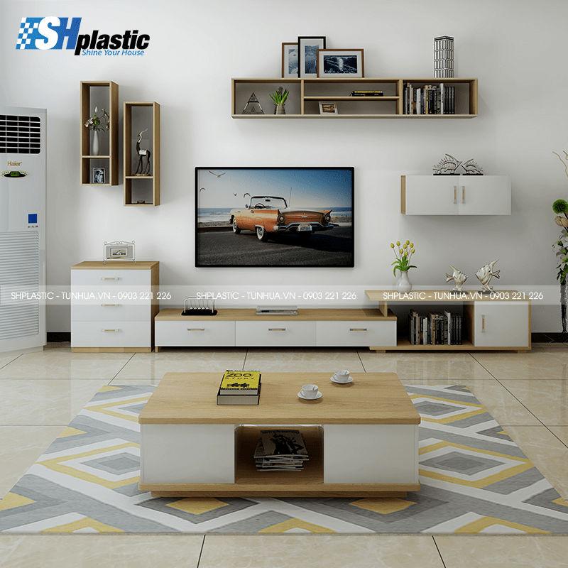 Kệ tivi nhựa Đài Loan cao cấp / SHPlastic KTV13