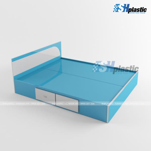 Giường ngủ đôi nhựa Đài Loan cao cấp / SHPlastic GN17